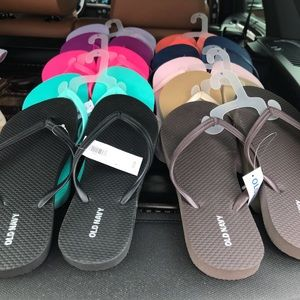 Flip-flops and heels size 9 and 9 1/2 new